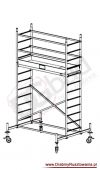 Rusztowanie przejezdne aluminiowe - ProTec   wys. rob. 4,3m