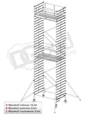 Rusztowanie przejezdne aluminiowe -STABILO 5000   wys. rob. 10,3m