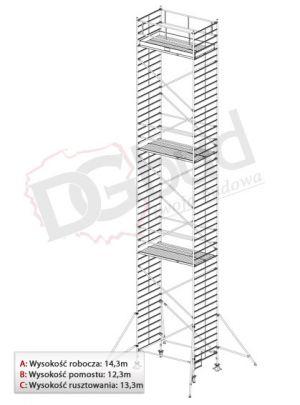 Rusztowanie przejezdne aluminiowe -STABILO 5000 | wys. rob. 14,3m
